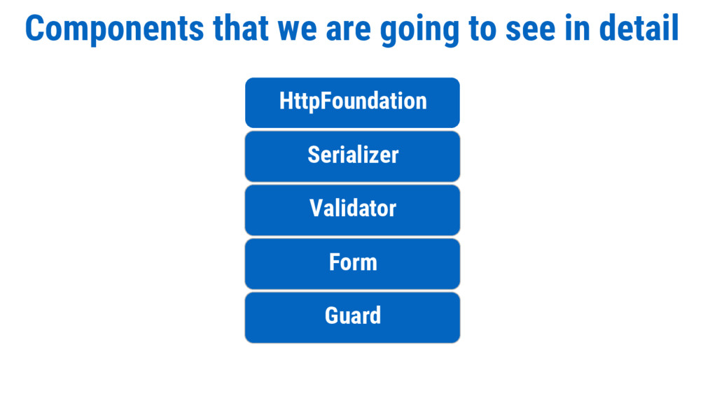 Components that we are going to see in detail H...