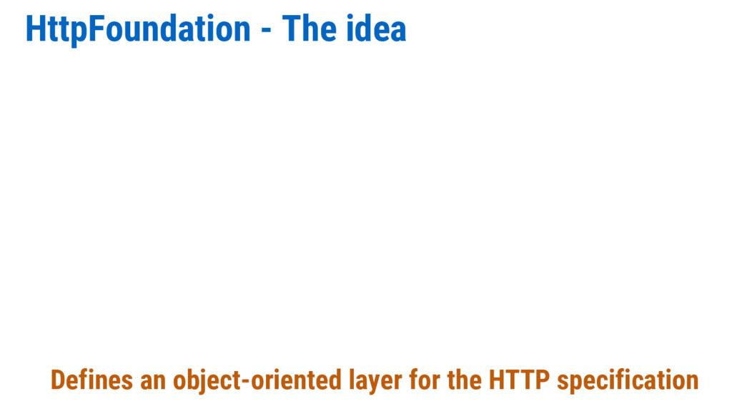 HttpFoundation - The idea Defines an object-ori...