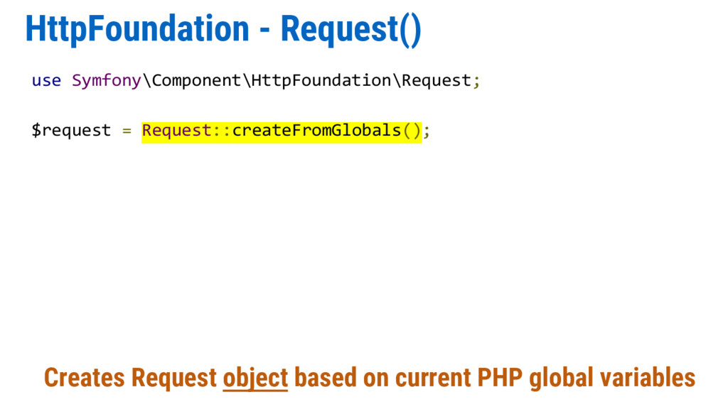 HttpFoundation - Request() Creates Request obje...