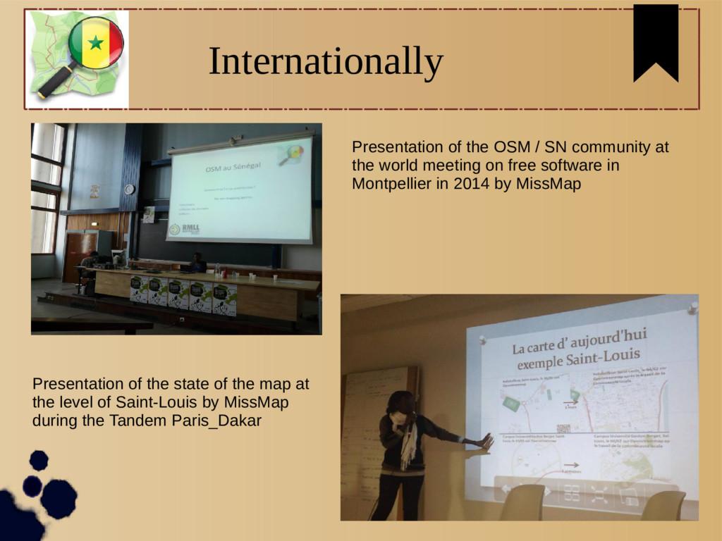 Internationally Presentation of the OSM / SN co...