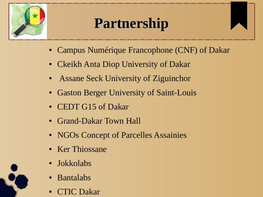 Partnership Partnership ● Campus Numérique Fran...