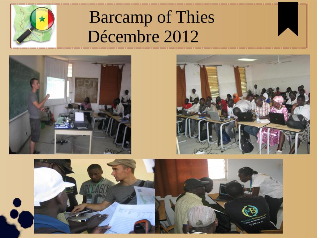 Barcamp of Thies Décembre 2012