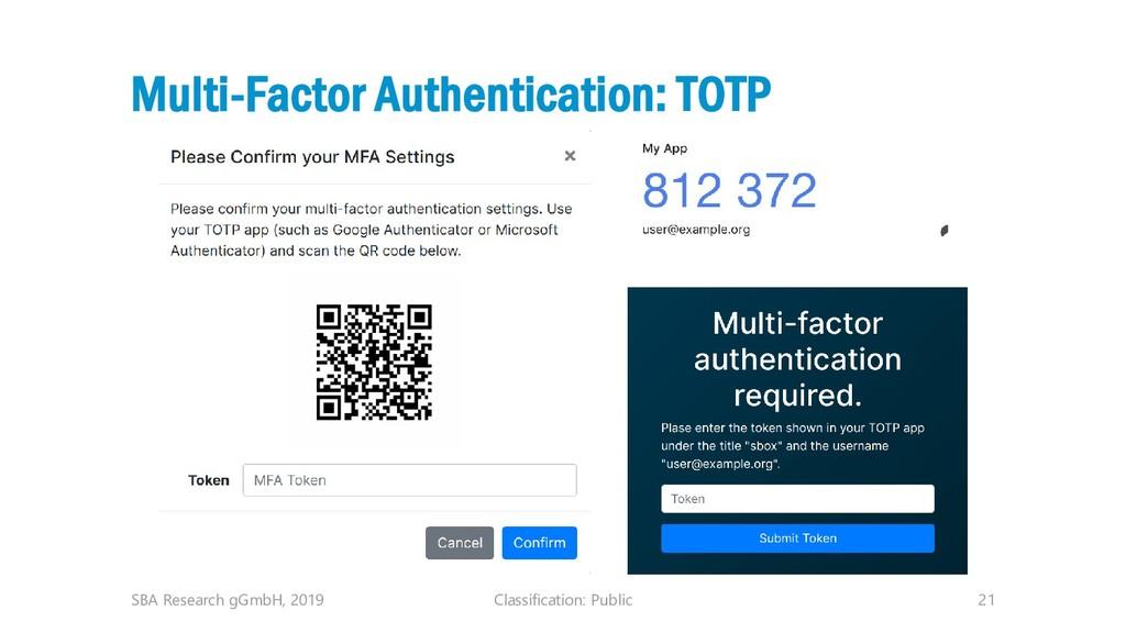 Classification: Public 21 Multi-Factor Authenti...