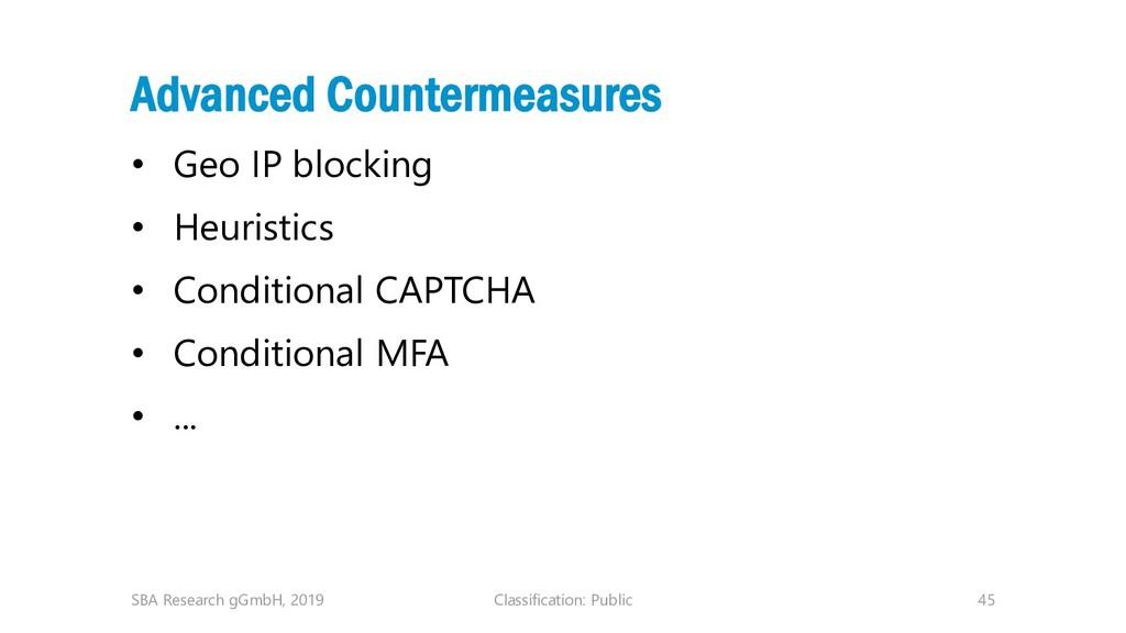 Classification: Public 45 Advanced Countermeasu...