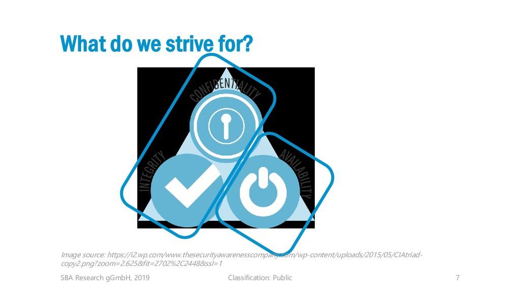 Classification: Public 7 What do we strive for?...