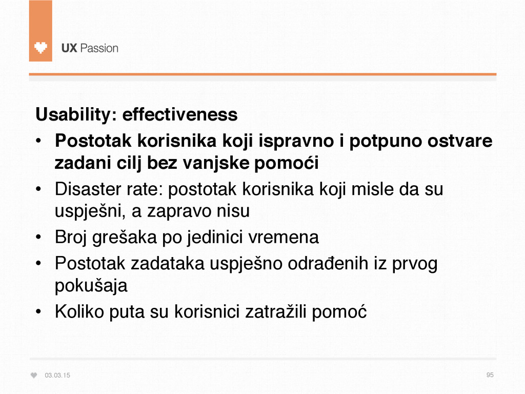 03.03.15 95 Usability: effectiveness • Postota...