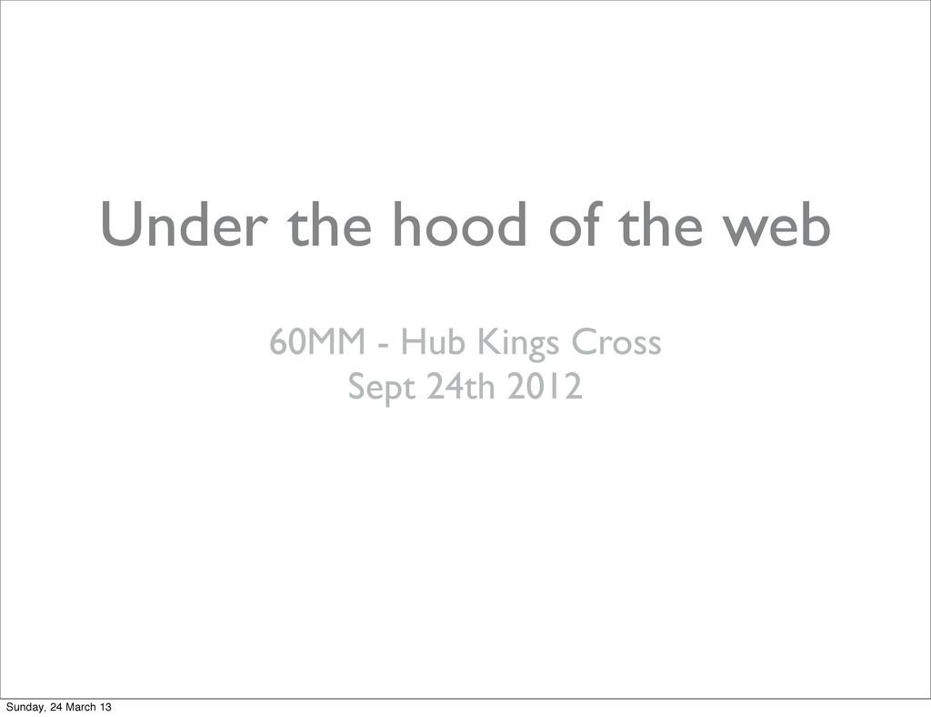 Under the hood of the web 60MM - Hub Kings Cros...