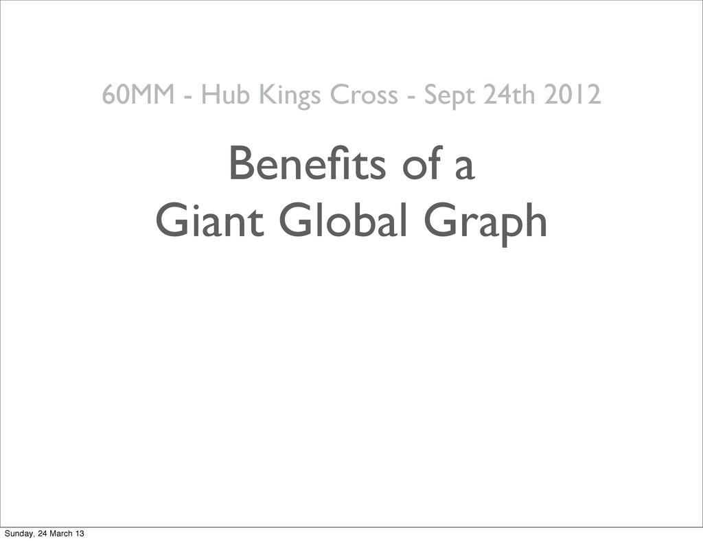 25 Benefits of a Giant Global Graph 60MM - Hub K...