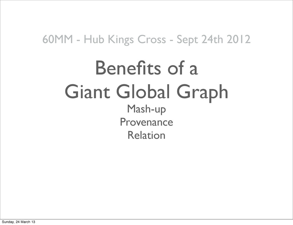 28 Mash-up Provenance Relation 60MM - Hub Kings...
