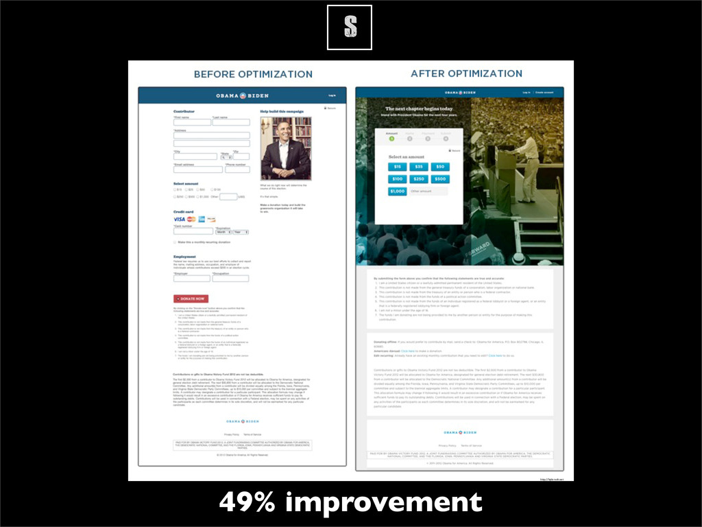 S 49% improvement