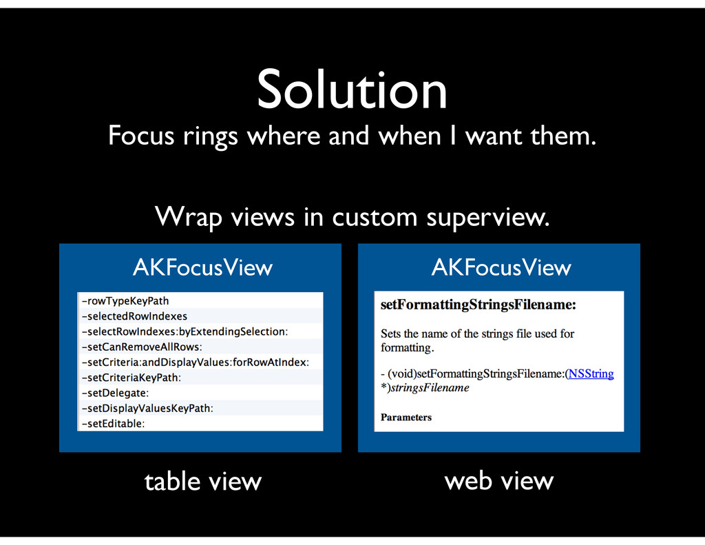 Solution Focus rings where and when I want them...