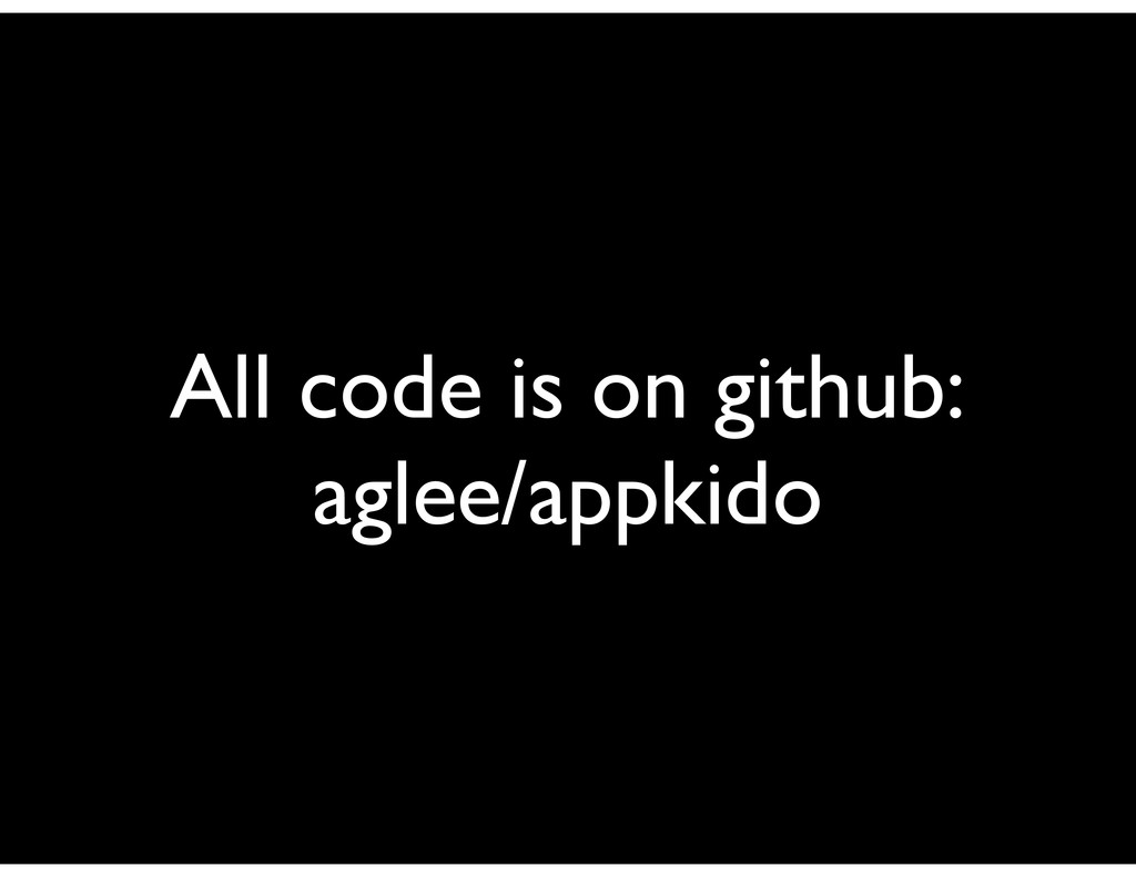 All code is on github: aglee/appkido