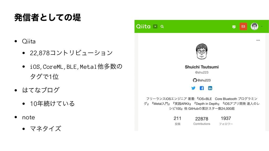 ൃ৴ऀͱͯ͠ͷఅ • Qiita • 22,878ίϯτϦϏϡʔγϣϯ • iOS, Core...