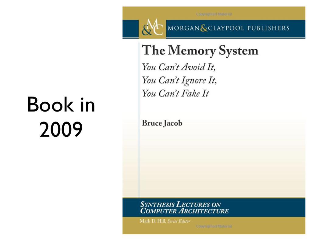 Book in 2009