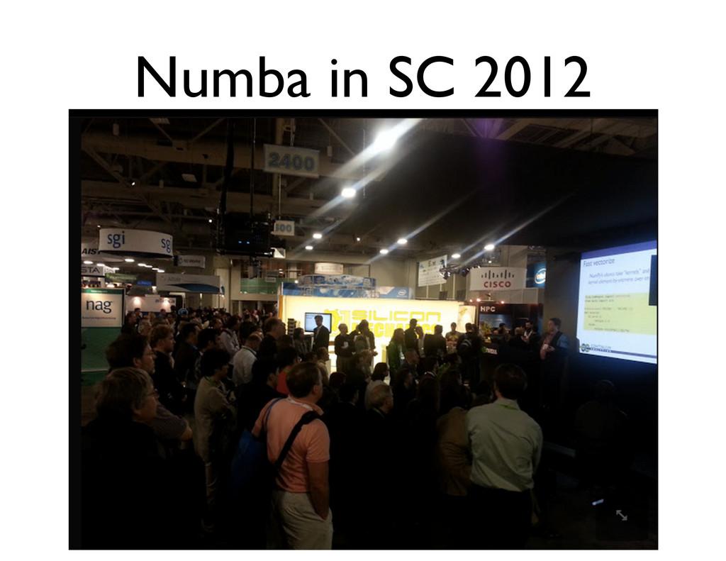 Numba in SC 2012