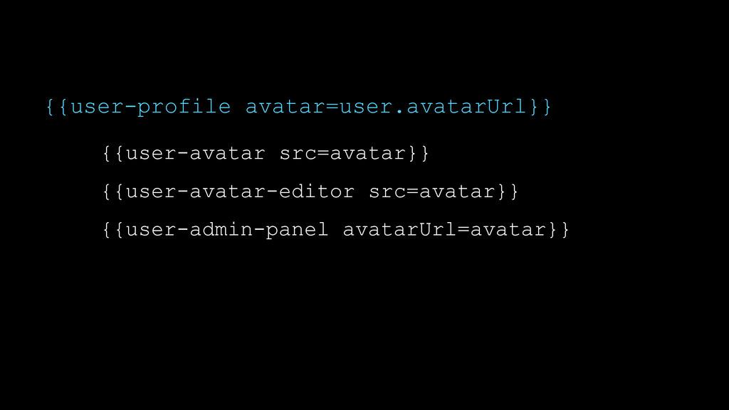 {{user-profile avatar=user.avatarUrl}} {{user-a...