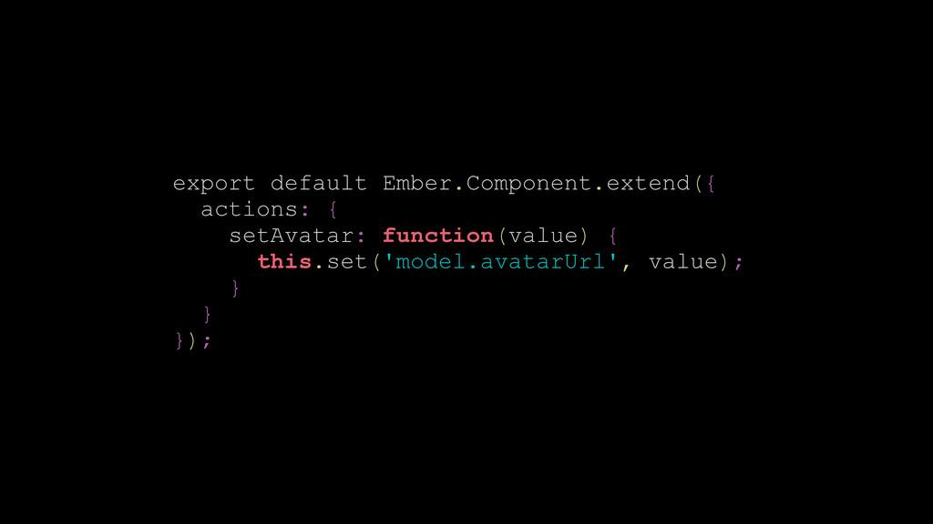 export default Ember.Component.extend({ actions...