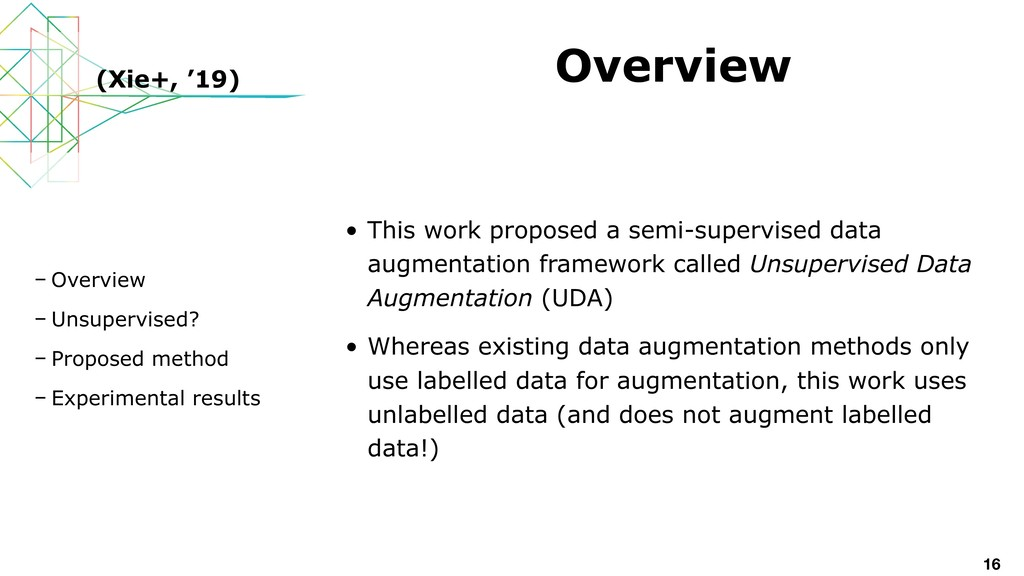 • This work proposed a semi-supervised data aug...