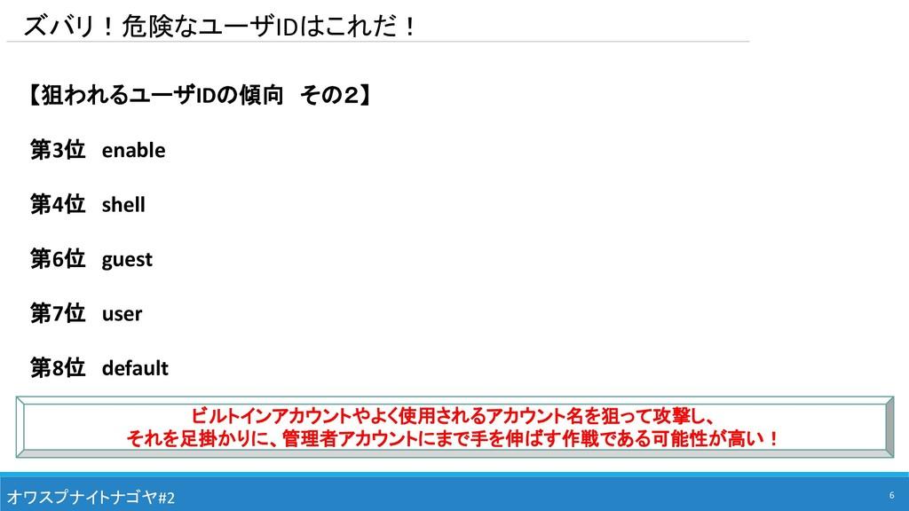 ズバリ!危険なユーザIDはこれだ! オワスプナイトナゴヤ#2 【狙われるユーザIDの傾向 その...