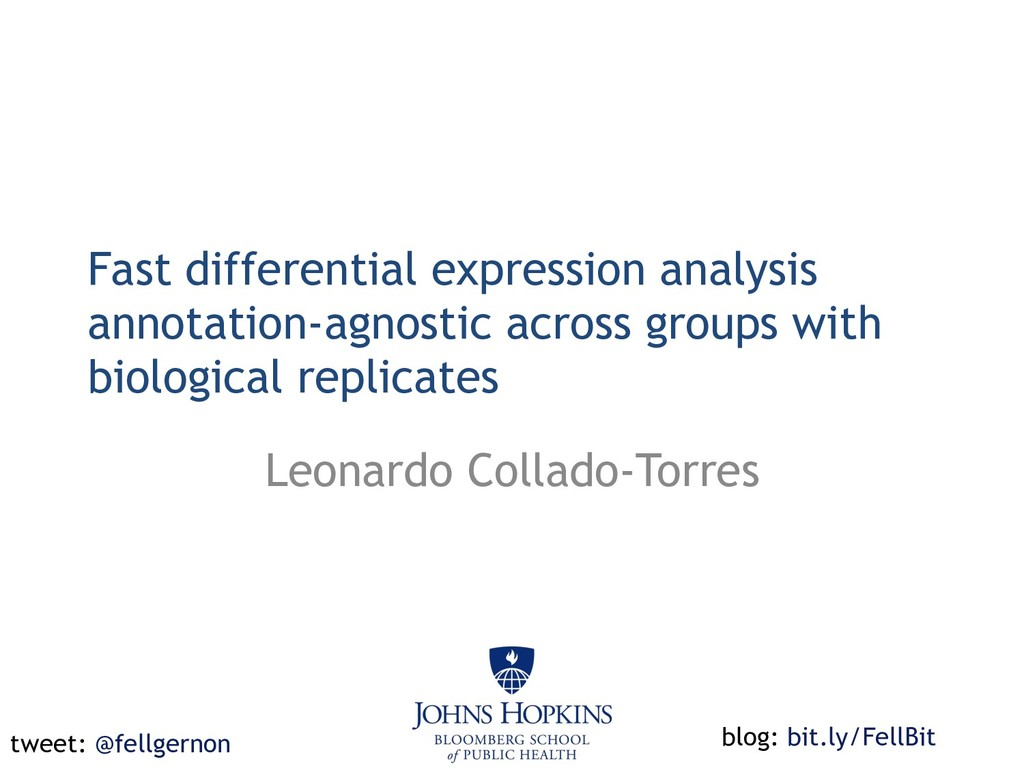 Fast differential expression analysis annotatio...