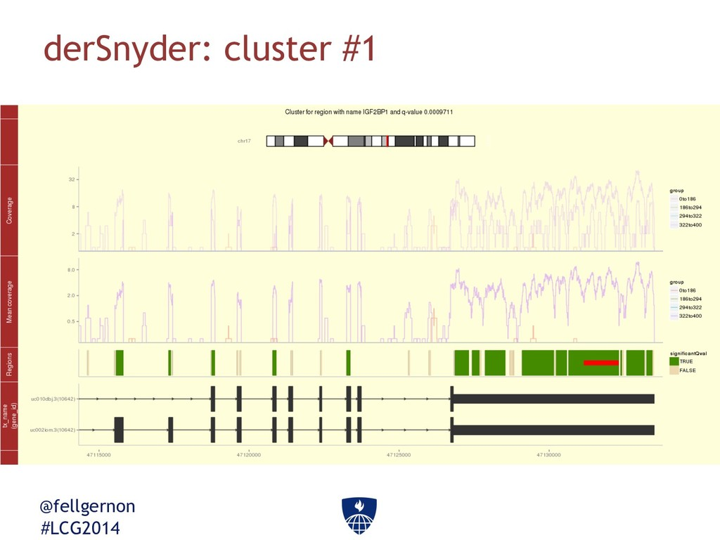 @fellgernon #LCG2014 derSnyder: cluster #1