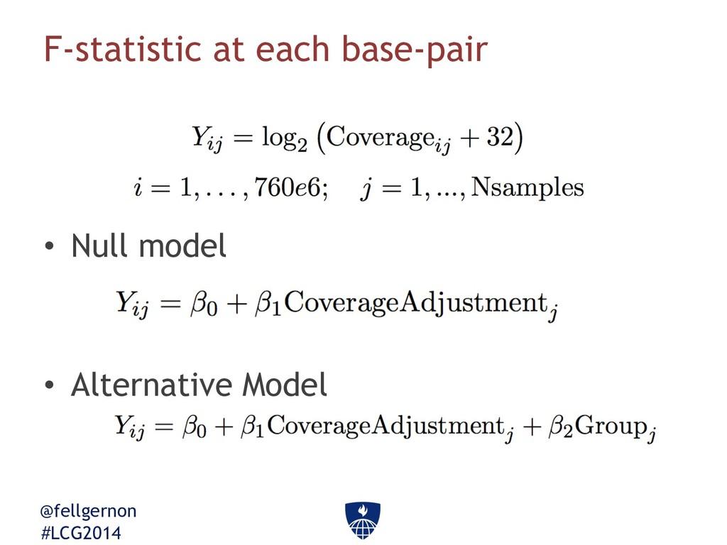 @fellgernon #LCG2014 F-statistic at each base-p...