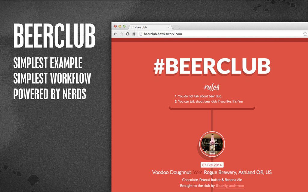 < }\ stu {}\ BEERCLUB SIMPLEST EXAMPLE SIMPLEST...