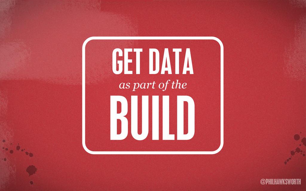 >< {}\ stu @PHILHAWKSWORTH GET DATA BUILD as pa...