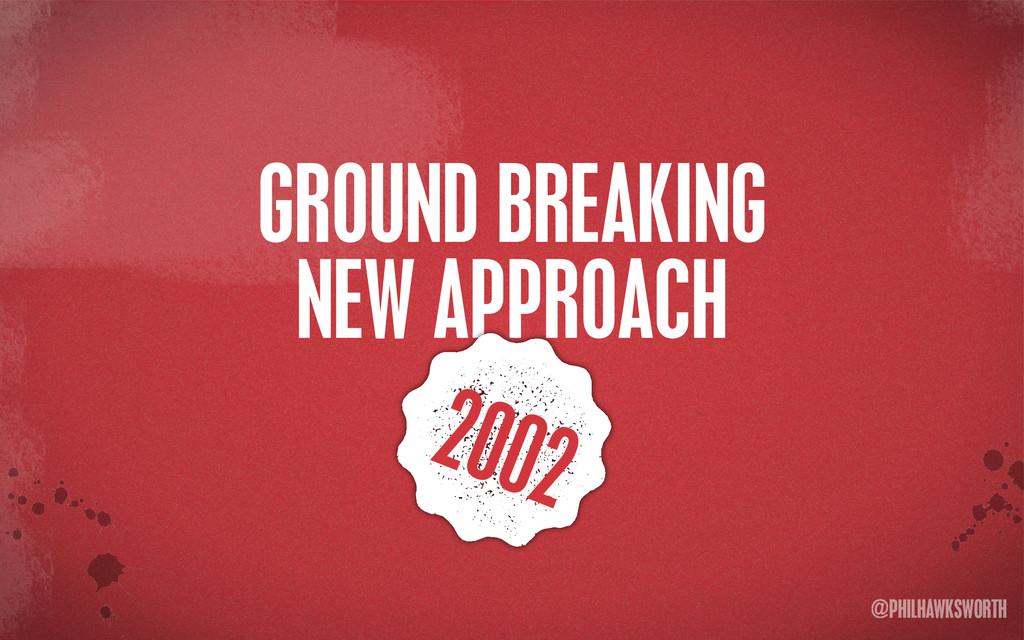 >< {}\ stu @PHILHAWKSWORTH GROUND BREAKING NEW ...
