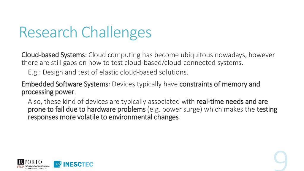 Research Challenges Cloud-based Systems: Cloud ...
