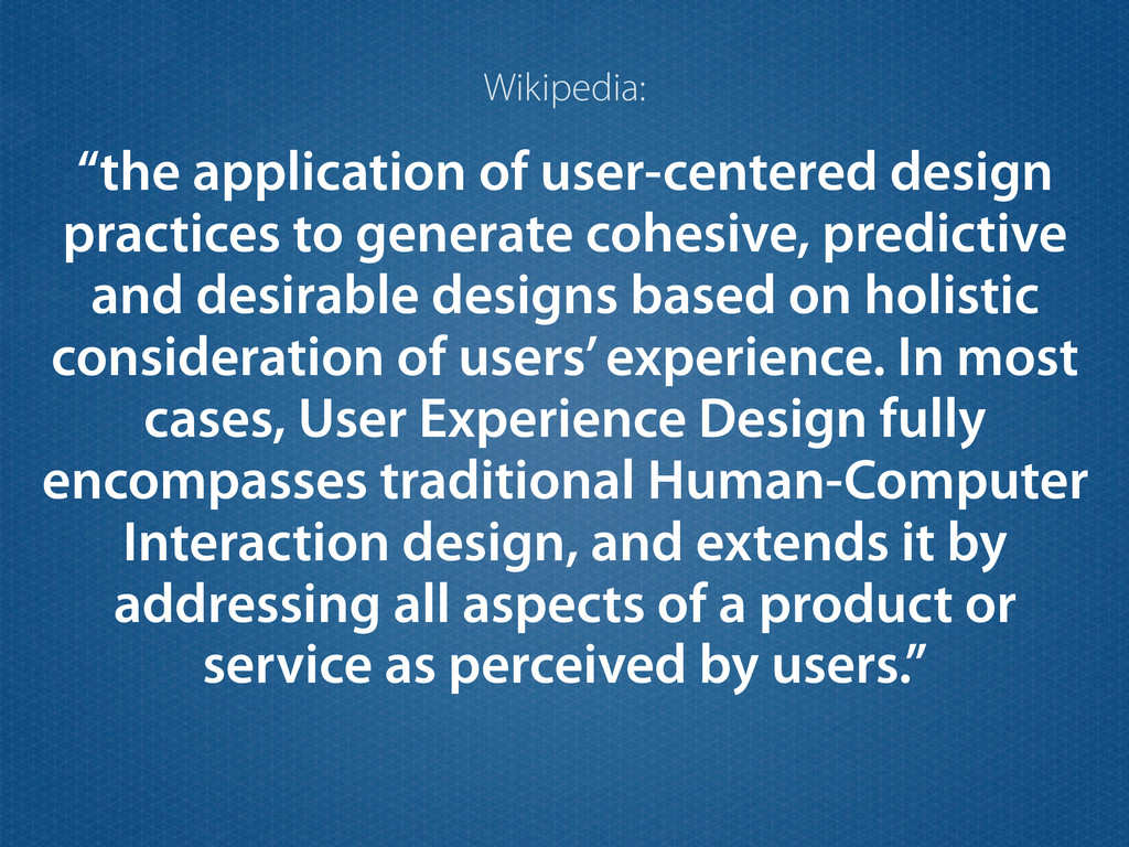 """the application of user-centered design practi..."