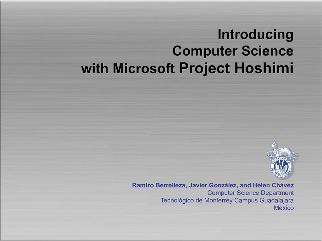 Introducing Computer Science with Microsoft Pro...