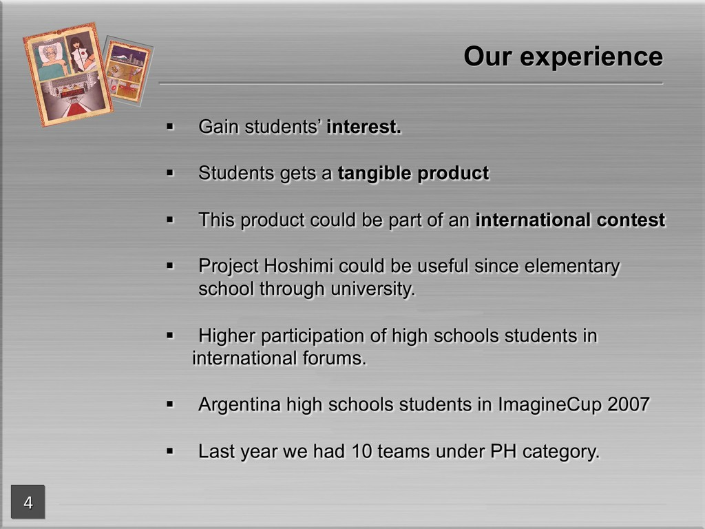 § Gain students' interest. § Students gets a ta...