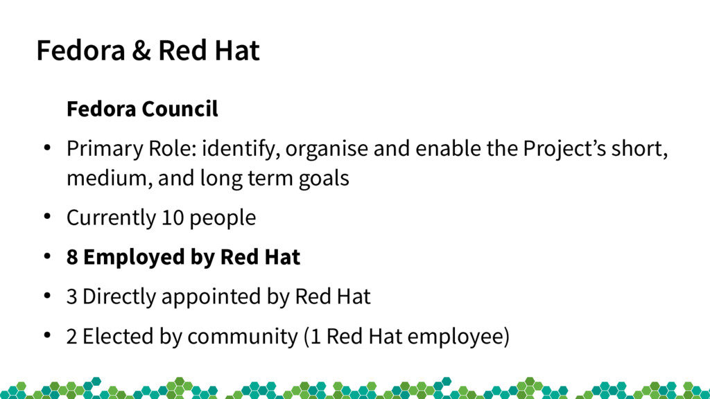 Fedora & Red Hat Fedora Council ● Primary Role:...