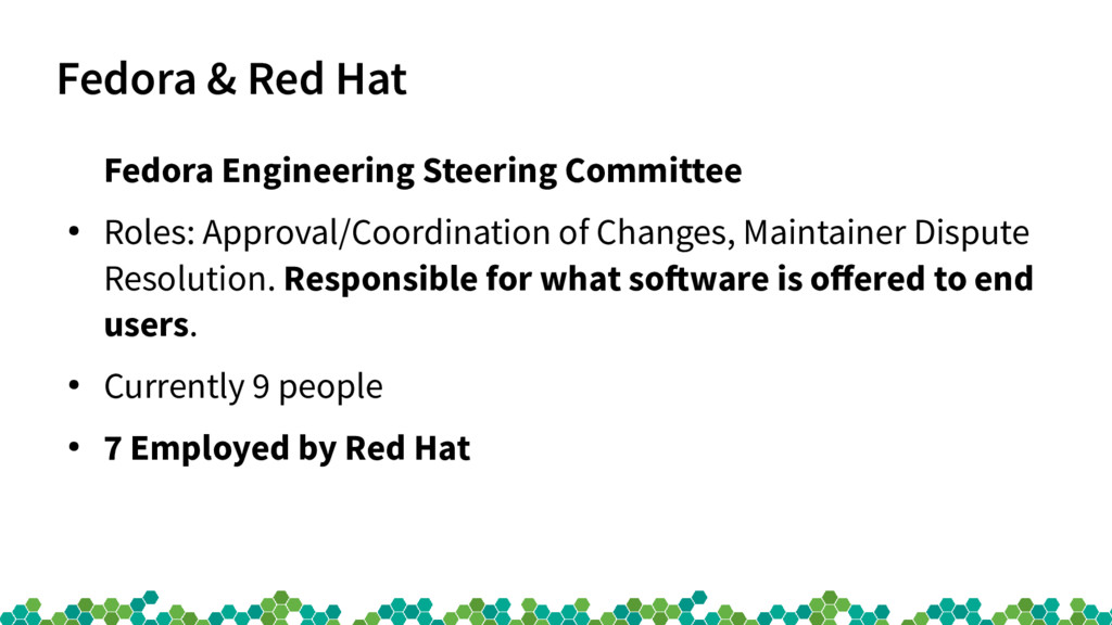 Fedora & Red Hat Fedora Engineering Steering Co...