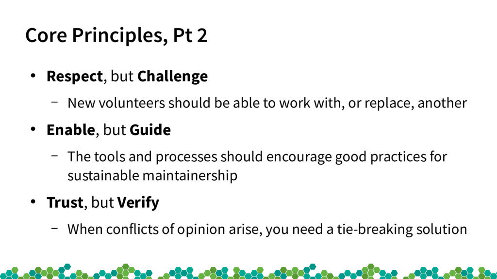 Core Principles, Pt 2 ● Respect, but Challenge ...