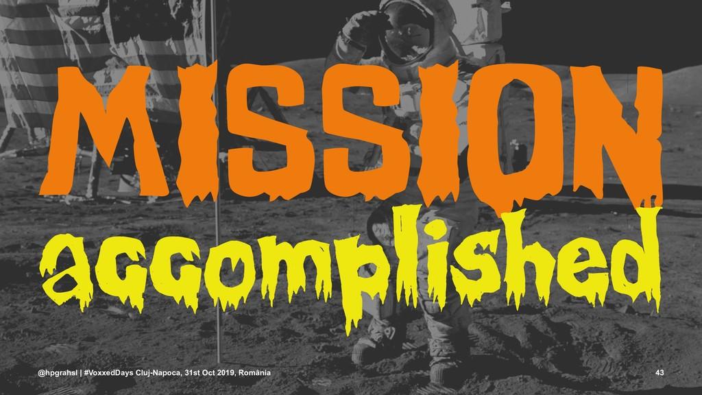 MISSION accomplished @hpgrahsl | #VoxxedDays Cl...