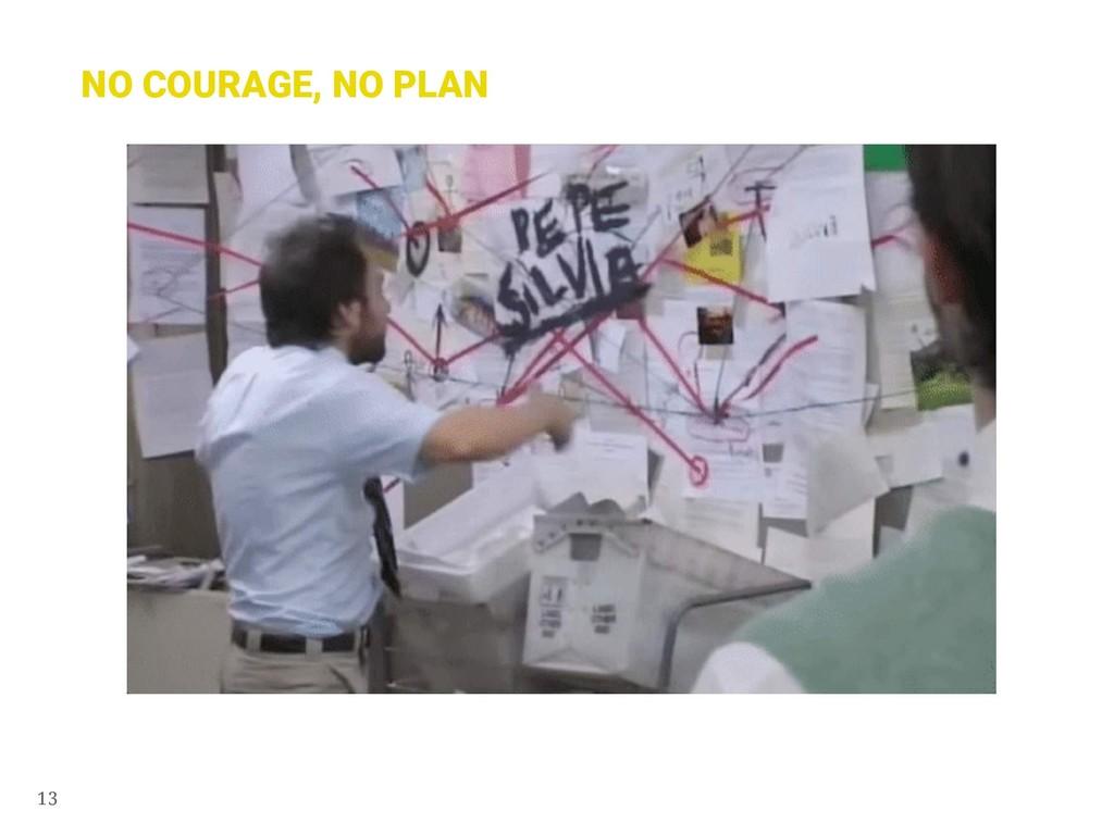 13 NO COURAGE, NO PLAN