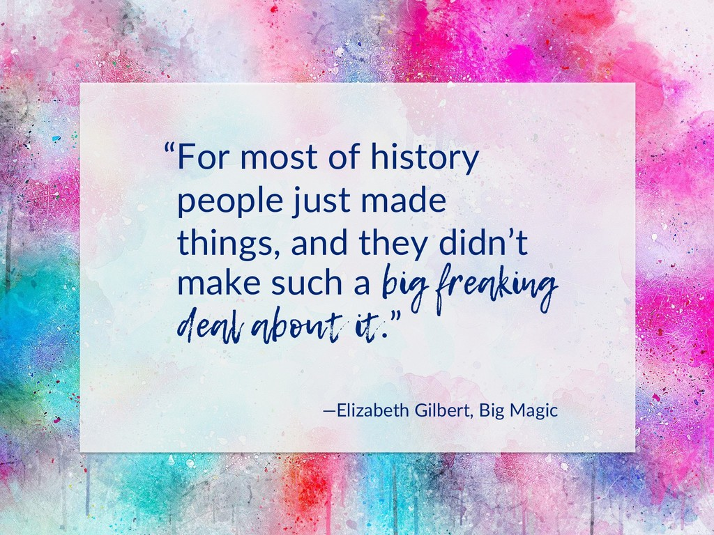 """""""For most of history people just made things, a..."""