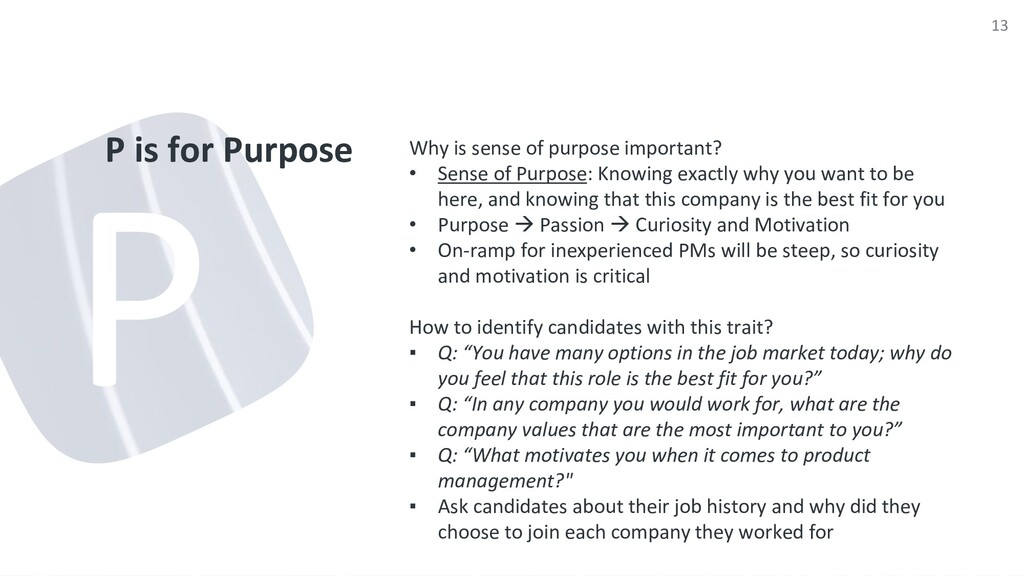 P is for Purpose Why is sense of purpose import...