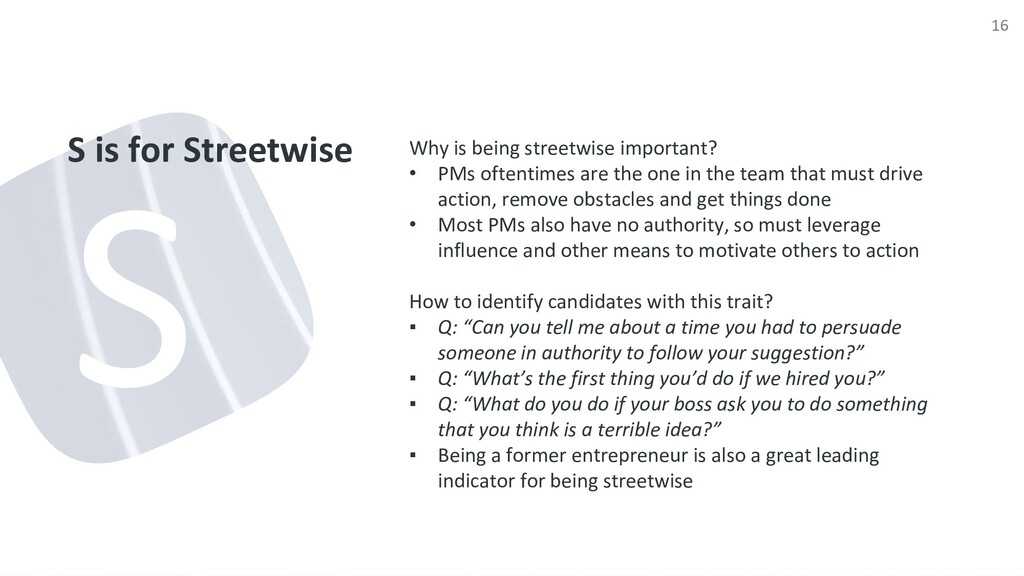 S is for Streetwise Why is being streetwise imp...