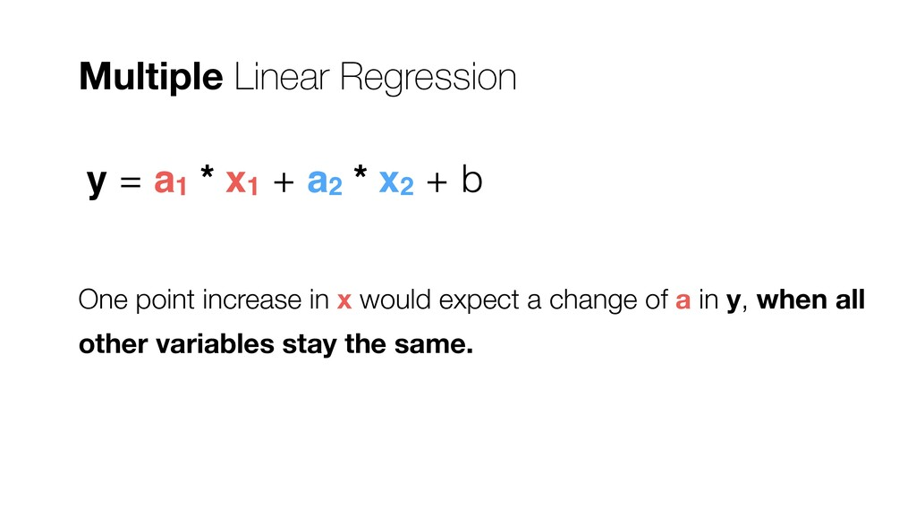 One point increase in x would expect a change o...