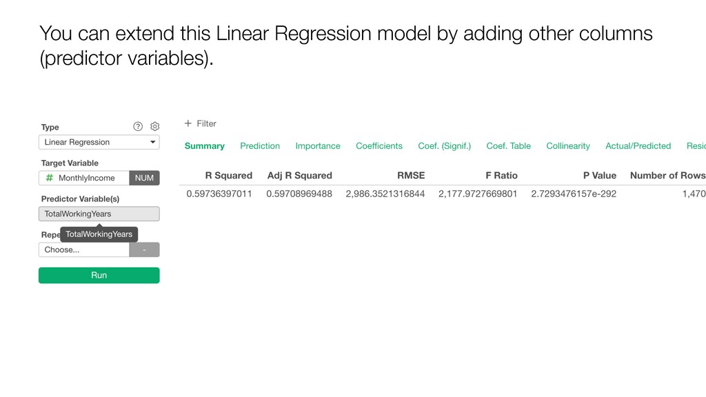 You can extend this Linear Regression model by ...