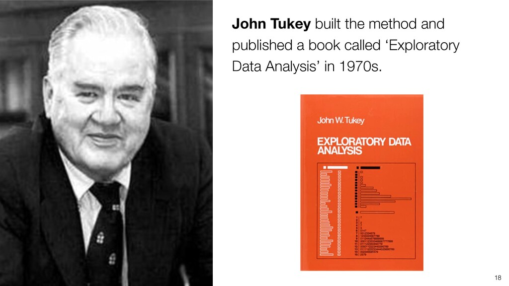 18 John Tukey built the method and published a ...