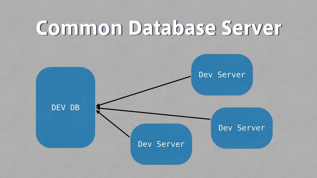 $PNNPO%BUBCBTF4FSWFS DEV DB Dev Server Dev Se...