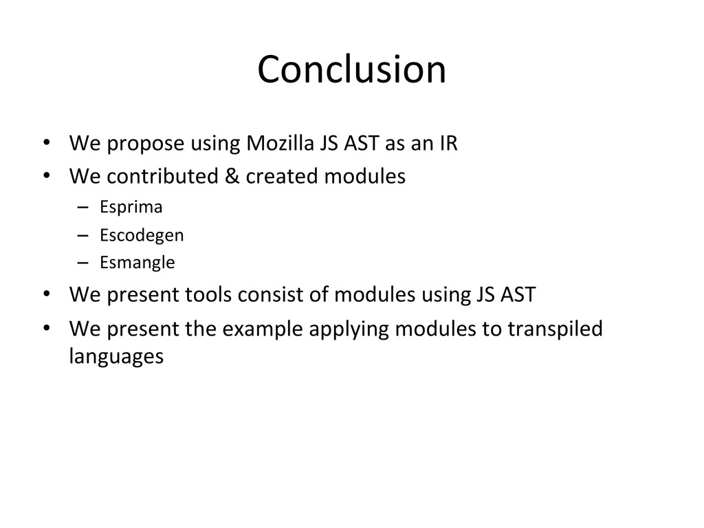 Conclusion • We propose using Mozil...