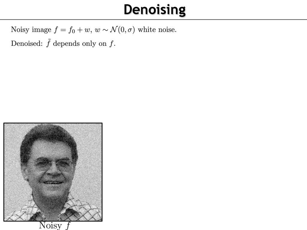 Noisy f Denoising