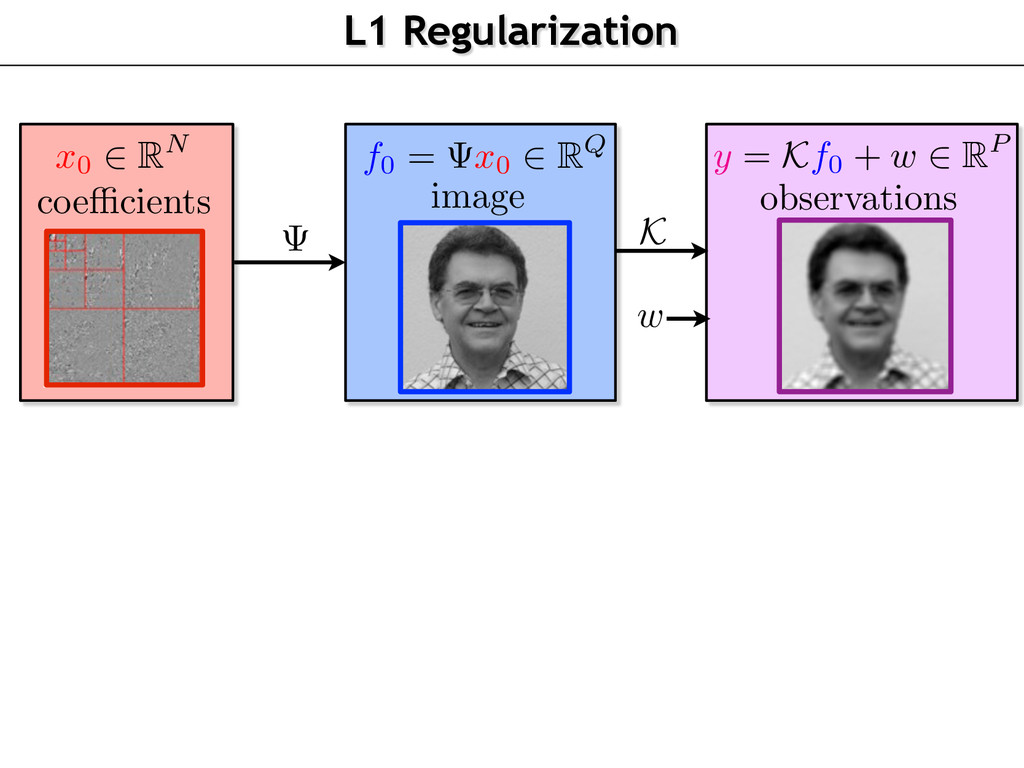 L1 Regularization observations w coe cients ima...