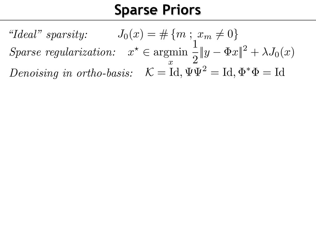 Sparse regularization: Denoising in ortho-basis...