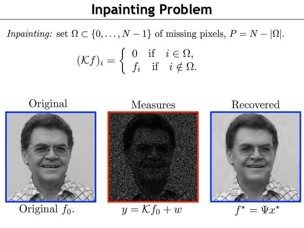 y = Kf0 + w (Kf)i = ⇢ 0 if i 2 ⌦, fi if i / 2 ⌦...